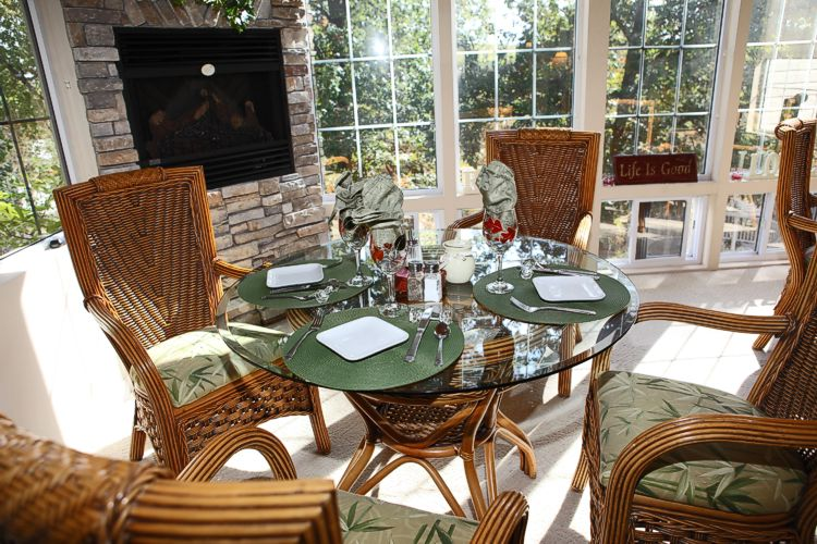 A fun and fabulous breakfast served fireside each morning